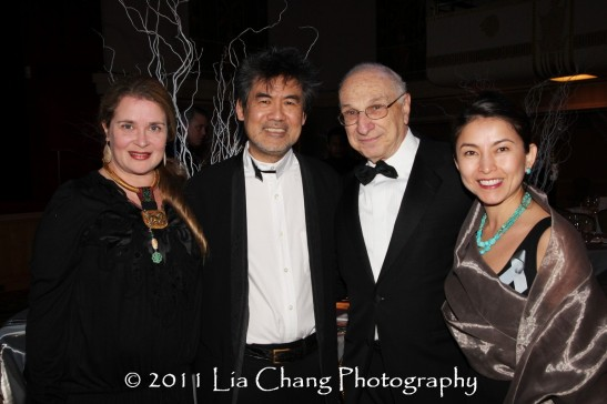 Kathryn Layng with her husband Asia Society Cultural Achievement Award winner David Henry Hwang, Asia Society Trustee Harold Newman and Yoshie Ito. (Lia Chang)