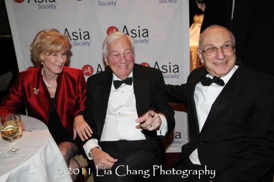 Cynthia Whitehead, Former U.S. Deputy Secretary of State John C. Whitehead and Harold Newman. (Lia Chang)