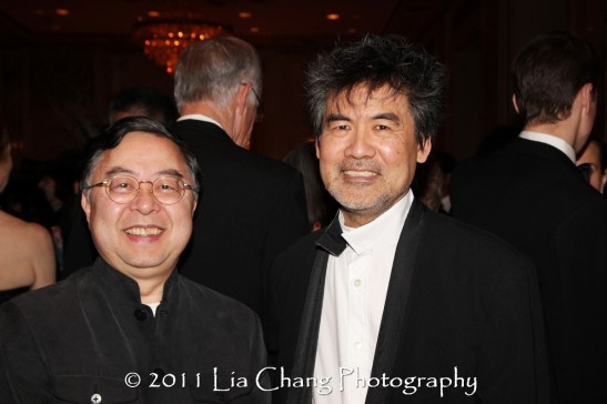 Asia Society Co-Chair Ronnie Chan and Asia Society Cultural Achievement Award winner David Henry Hwang. (Lia Chang)