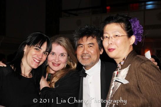 Chinglish director Leigh Silverman, Kathryn Layng, Asia Society Cultural Achievement Award winner David Henry Hwang, Chinglish costume designer Anita Yavich. (Lia Chang)