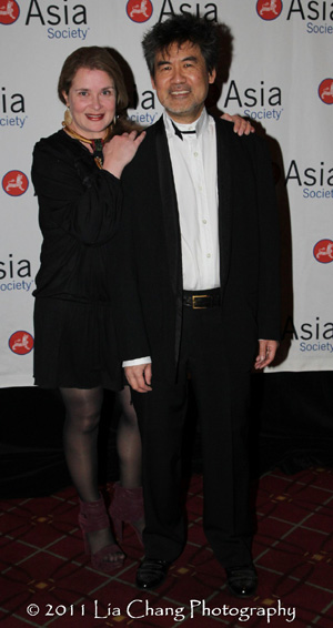 Kathryn Layng and her husband Asia Society Cultural Achievement Award winner David Henry Hwang. (Lia Chang)