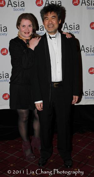 Kathryn Layng and her husband Asia Society Cultural Achievement Award winner David Henry Hwang. (Lia Chang)