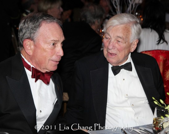 Mayor Michael Bloomberg and Former U.S. Deputy Secretary of State John C. Whitehead. (Lia Chang)