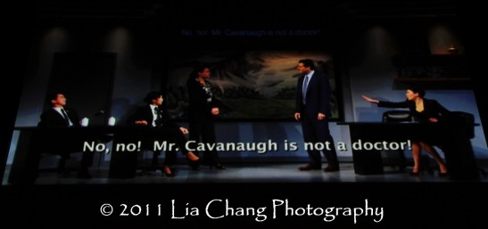 Video excerpts from David Henry Hwang's Chinglish. (Lia Chang)