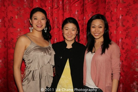 Christine Lin, Jennifer Lim and Angela Lin. Photo by Lia Chang