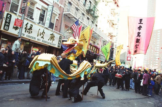 Gold Dragon, New YorkChinatown, 2003. (Lia Chang)
