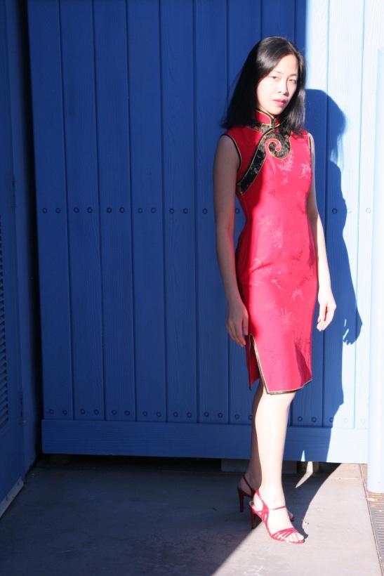 Lia Chang in Red Cheongsam, Los Angeles, 2009. (Lia Chang)