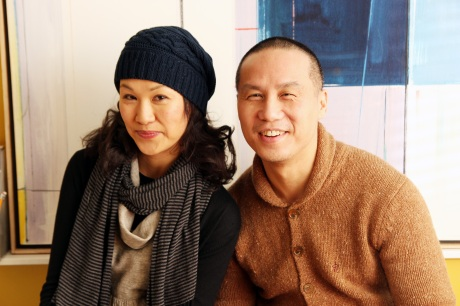 Cindy Cheung and her SPEAK UP CONNIE director BD Wong Photo by Lia Chang