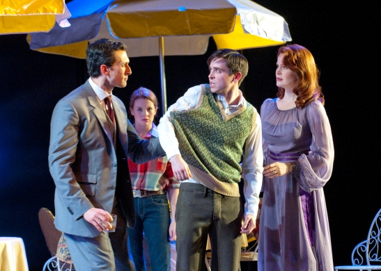 Aaron Lazar, Andrea Lynn Green, Matt Doyle, Kate Baldwin in Dallas Theater Center's Giant . (Photo by Karen Almond)
