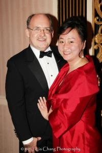 Financial Times critic Ken Smith and his wife Joanna C. Lee, at Asia Society Awards Dinner at the Waldorf Astoria in New York on January 11, 2012. Photo by Lia Chang