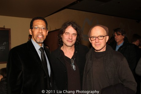 Peter Jay Fernandez, David Leveaux and Arliss Howard. Photo by Lia Chang