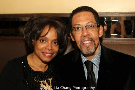 Denise Burse and her husband Peter Jay Fernandez. Photo by Lia Chang