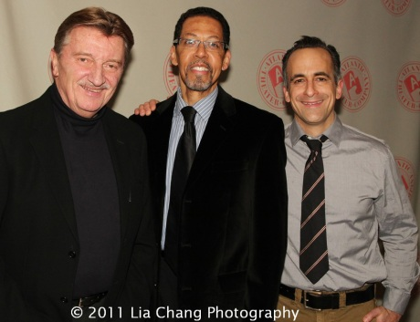 Larry Bryggman, Peter Jay Fernandez and David Pittu. Photo by Lia Chang