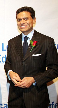 AALDEF Justice in Action 2012 honoree CNN Host Fareed Zakaria. Photo by Lia Chang