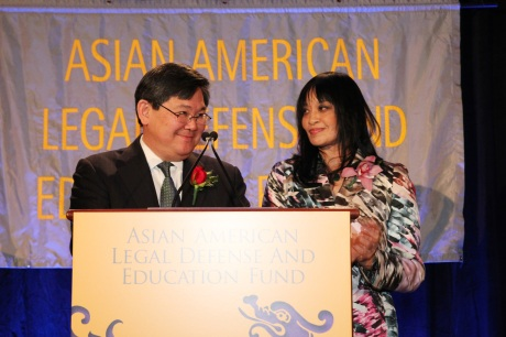 AALDEF board president Tommy Shi and AALDEF Executive Director Margaret Fung.  Photo by Lia Chang