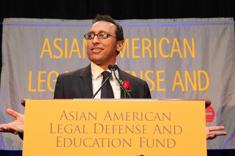 Special guest The Daily Show's Aasif Mandvi. Photo by Lia Chang