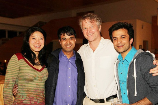 Christine Lin, Debargo Sanyal, C.J. Wilson and Nick Choksi. Photo by Lia Chang