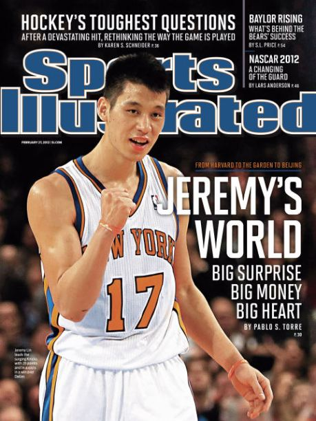 Jeremy Lin on the cover of Sports Illustrated for the second week in a row.