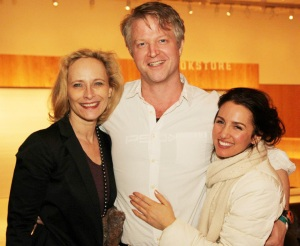 Laila Robins, C.J. Wilson and Tricia Paoluccio. Photo by Lia Chang
