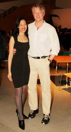 Lia Chang and C.J. Wilson. Photo by Gordana Rashovich
