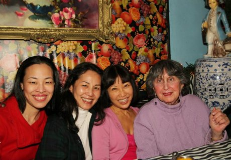 Lia Chang, Karen Tsen Lee, Suzen Murakoshi and Libby Bush at Yaffa on St. Marks Place in New York after a performance of Breathe Love Repeat. Photo by Jessica Minczeski