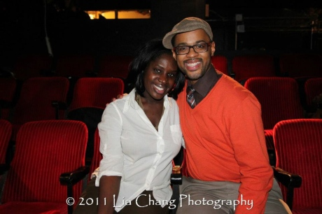 Lords Resistance playwright Camille Darby and her playwright Christopher Burris.  Photo by Lia Chang