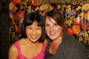 Suzen Murakoshi with her stage manager Jessica Minczeski. Photo by Lia Chang