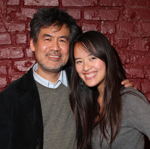 White Frog Executive Producer David Henry Hwang and Producer/Co-Screenwriter Ellie Wen in New York after a performance of Chinglish on January 28, 2012.