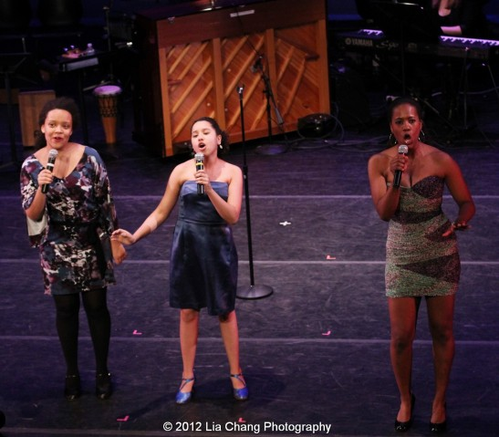 Rosie's Theater Kids and Zakiya Young. Photo by Lia Chang