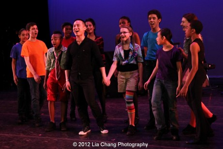 BD Wong and Rosie's Theater Kids. Photo by Lia Chang