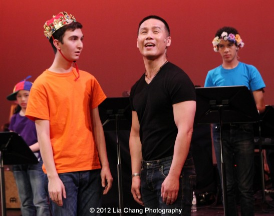 Rosie's Theater Kids and BD Wong in King Matt the First. Photo by Lia Chang