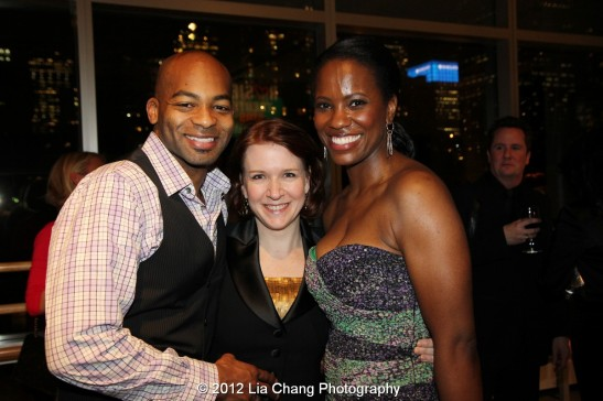 Brandon Victor Dixon, Lisa Danser and Zakiya Young. Photo by Lia Chang