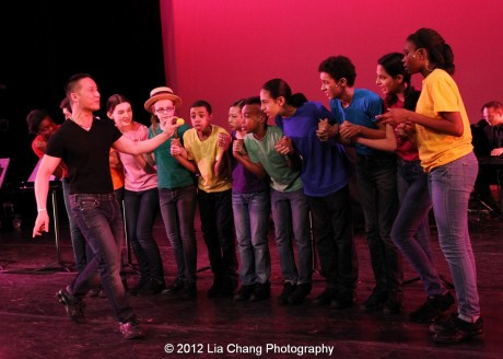 BD Wong and Rosie's Theater Kids in King Matt the First. Photo by Lia Chang