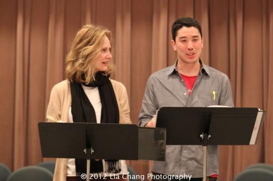 Lisa Emery and James Yaegashi in Where Were We by Richard Greenberg. Photo by Lia Chang