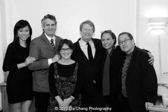 Angela Lin, director Barlett Sher, Lincoln Center Theater Dramaturg Anne Cattaneo, Andre Bishop, Artistic Director of Lincoln Center Theater, Jade Wu and playwright Philip Kan Gotanda. Photo by Lia Chang