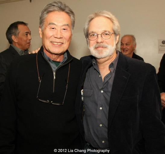 Sab Shimono and Pacific Overtures librettist John Weidman. Photo by Lia Chang