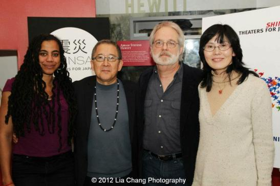 Playwrights Suzan-Lori Parks, Philip Kan Gotanda, John Weidman and Kumiko Shinohara. Photo by Lia Chang