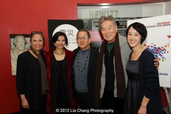 Jade Wu, Angel Desai, Philip Kan Gotanda, Sab Shimono and Michi Barall. Photo by Lia Chang