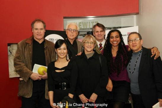 Jay O. Sanders, Jennifer Ikeda, John Guare, Mary Beth Hurt, Barlett Sher, Suzan-Lori Parks and Philip Kan Gotanda. Photo by Lia Chang