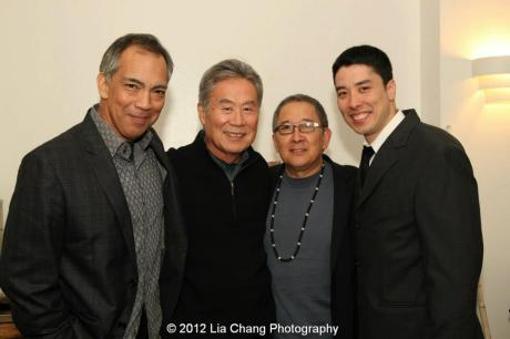 Thom Sesma, Sab Shimono, playwright Philip Kan Gotanda, James Yaegashi. Photo by Lia Chang
