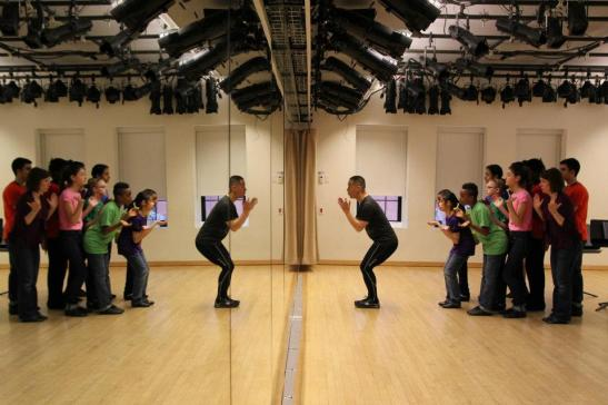 BD Wong rehearses his Rosie's Theater Kids at the Maravel Arts Center on 445 West 45th Street in New York on March 17, 2012. Photo by Lia Chang