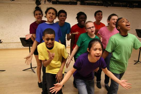 Rosie's Theater Kids rehearse at the Maravel Arts Center on 445 W. 45th St. in New York on March 17, 2012. Photo by Lia Chang