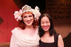 Charles Busch and Lia Chang. Photo by Jarlath Conroy