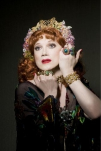 Charles Busch as Judith of Bethulia at Theater for the New City. Photo by David Rodgers