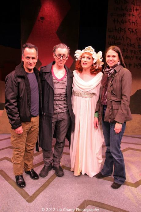 David Pittu, Alan Cumming, Charles Busch and Sutton Foster. Photo by Lia Chang