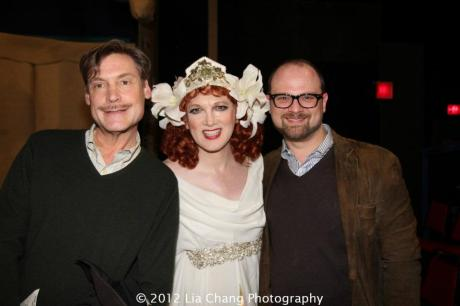 Eric Myers, Charles Busch and Carl Andress. Photo by Lia Chang