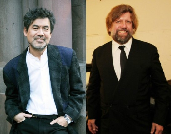 David Henry Hwang and Oskar Eustis (Photos by Lia Chang)