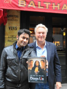 Samrat Chakrabarti and Dogs Lie director Richard Atkinson. Photo by Joanna Atkinson