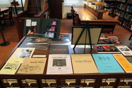 Selected scripts from the Performing Arts Playwright Series in the Library of Congress' AAPI Collection.  Photo by Lia Chang