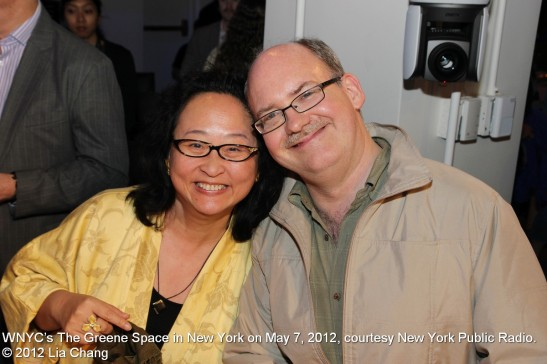 Chinglish cultural advisors Joanna C. Lee and Ken Smith at WNYC's The Greene Space in New York on May 7, 2012, courtesy New York Public Radio. © 2012 Lia Chang